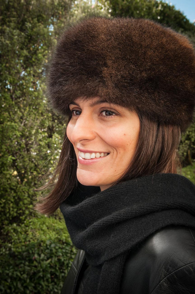 d4ff28cbc Russian Cossack Shorter Possum Fur Hat - Chocolate Brown