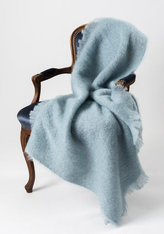 Mohair Throw Australia Windermere Glacier Blue