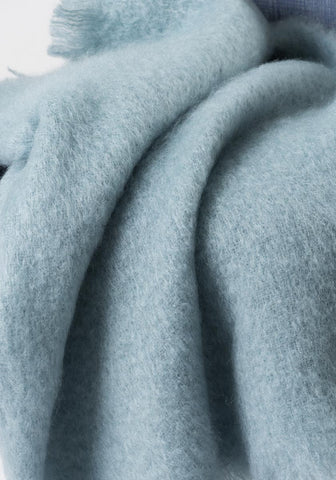 Image of Glacier Blue Mohair Throw Blanket