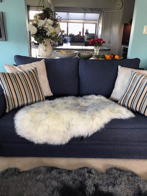 Grey Mist Dyed Single Sheepskin Rug