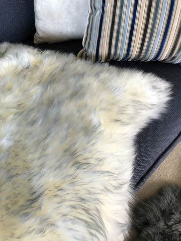Image of Grey mist sheepskin rug Bowron