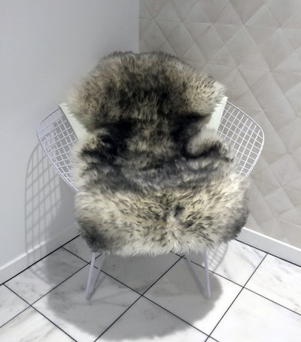 White Grey Tips Single Sheepskin Rug 60cm x 105cm