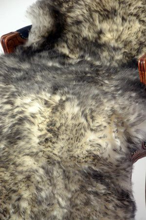 White Grey Tips Single Sheepskin Rug