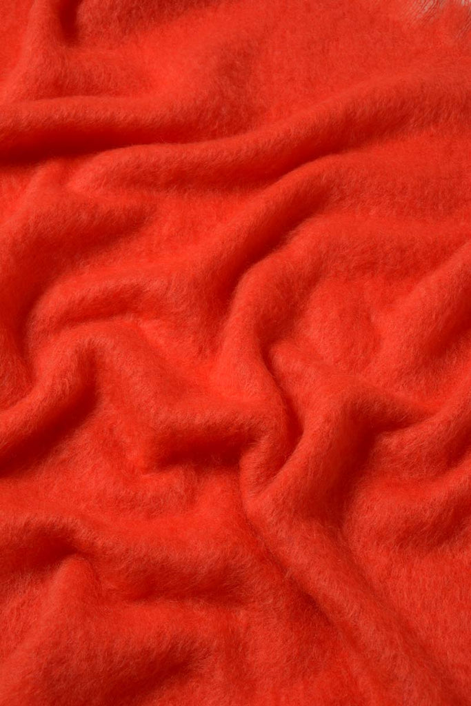 Windermere Hibiscus Orange Mohair Blanket