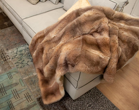 Image of Honey Possum Fur Blanket Made in New Zealand