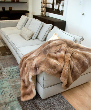 Honey Possum Fur Blanket Made in New Zealand