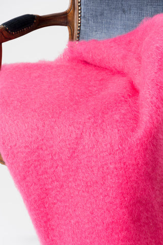 Hot Pink Mohair Throw Blanket