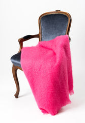 Hot Pink Mohair Chair Throw