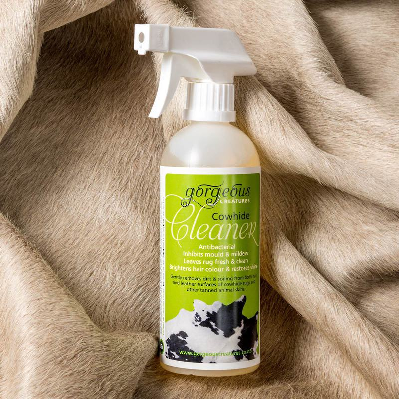 Gorgeous Creatures cowhide cleaner to clean animal skins