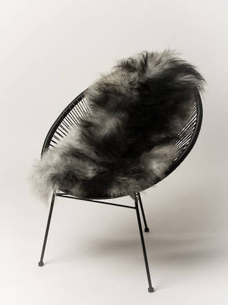 Icelandic sheepskins have beautiful long flowing hair-like wool