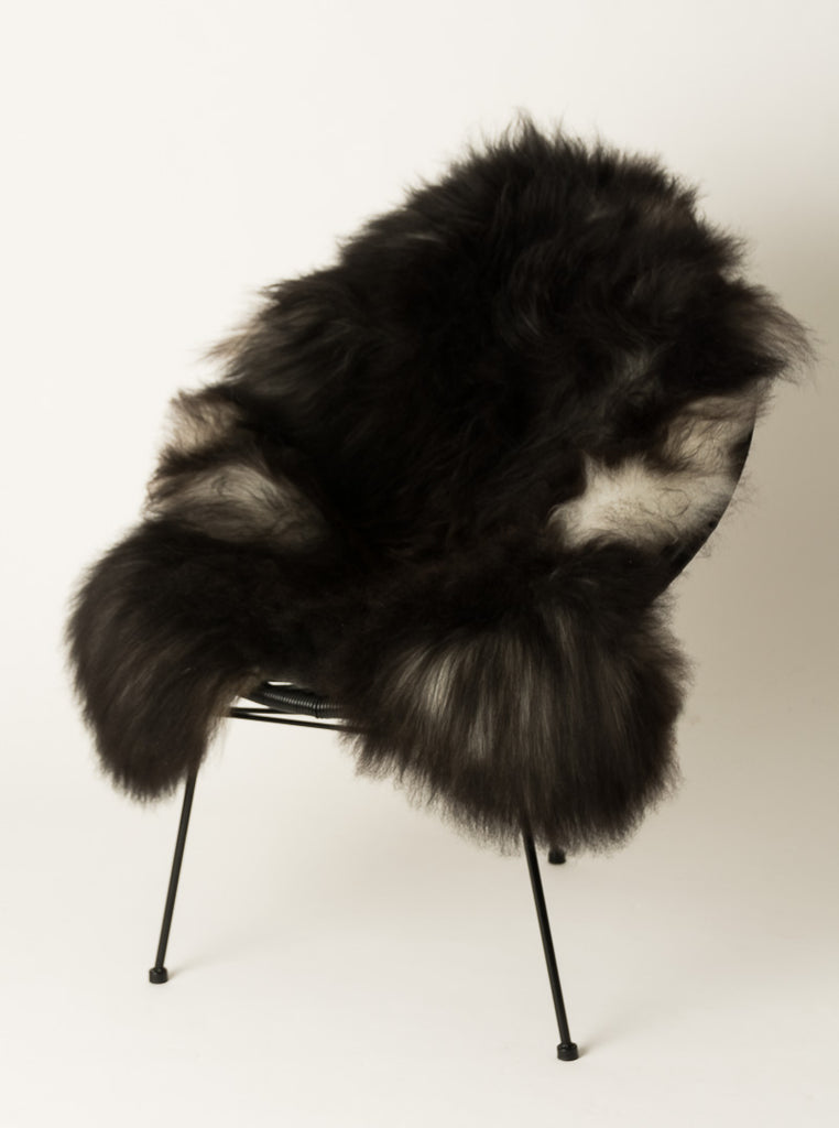 Icelandic Sheepskin #007 - Natural smokey black grey