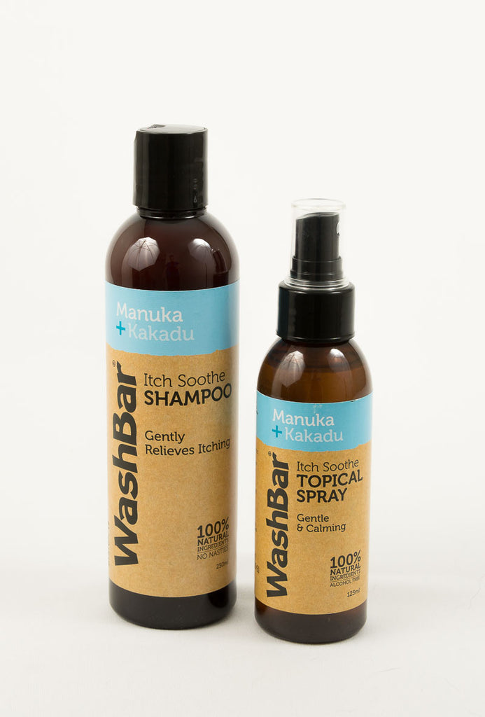 WashBar Itchy Dog Gift Set shampoo and topical spray