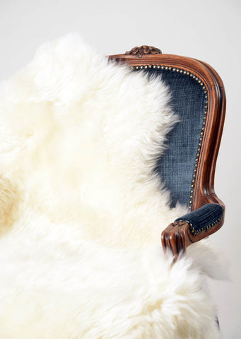 Ivory Wool Sheepskin Rug - Medium Single Skin
