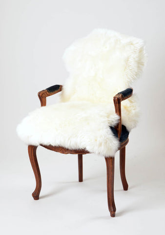 Image of Ivory Wool Sheepskin Rug - Large Single Skin
