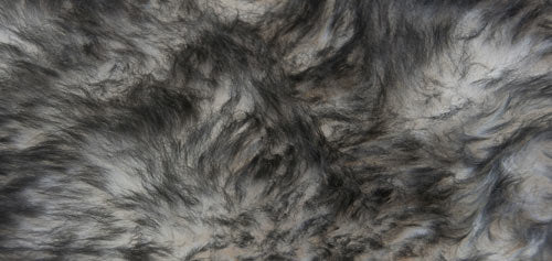 White Grey Tip Longwool Double Sheepskin Rug