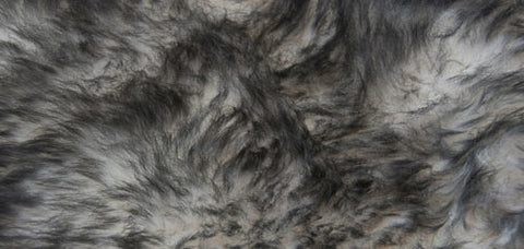 Image of White Grey Tip Longwool Double Sheepskin Rug