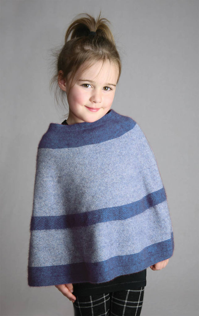 Aviator Blue Kids Poncho - K791