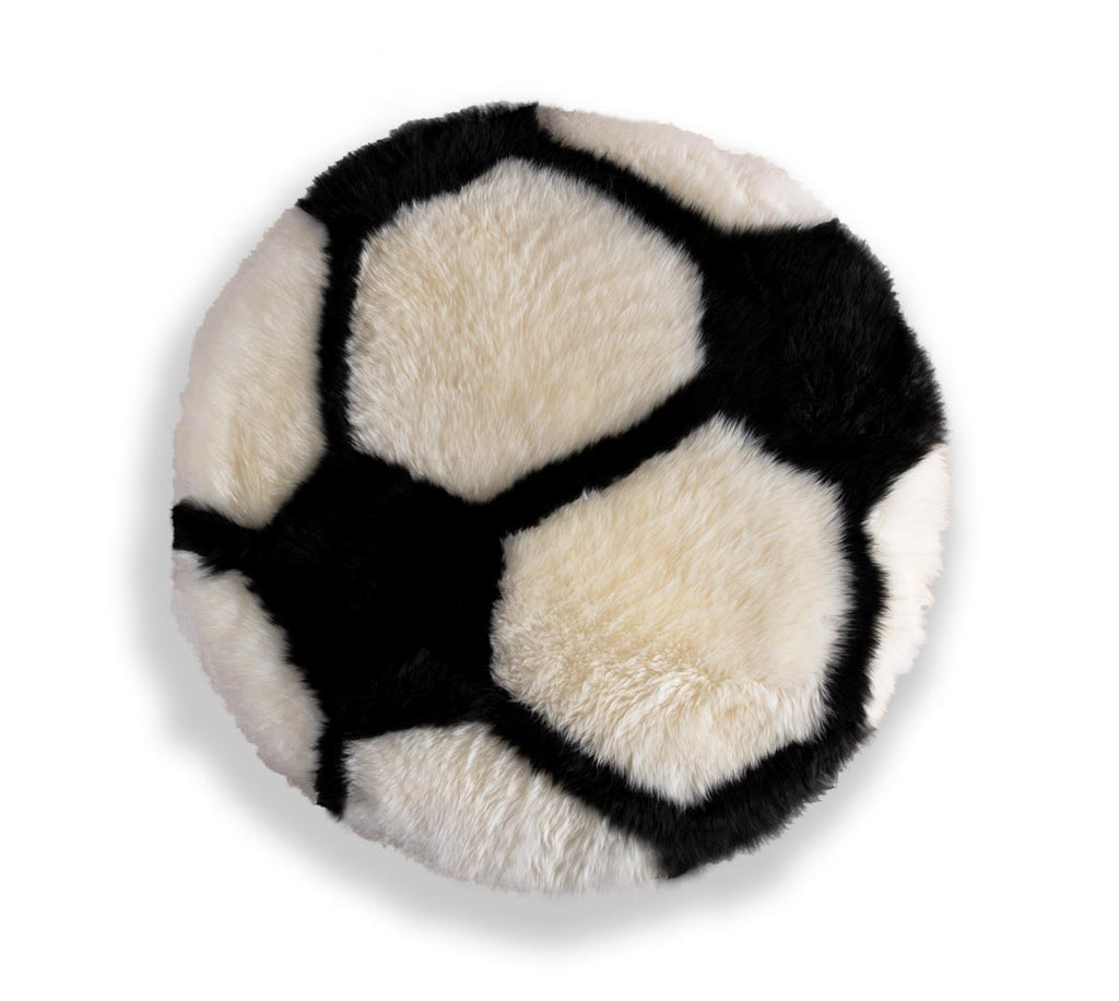 Soccer Ball Football Sheepskin Rug for Kids or Pets