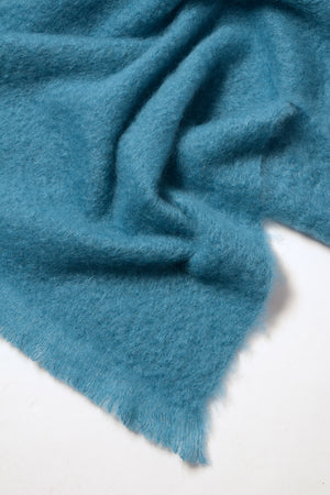 Lake Blue Mohair Chair Throw