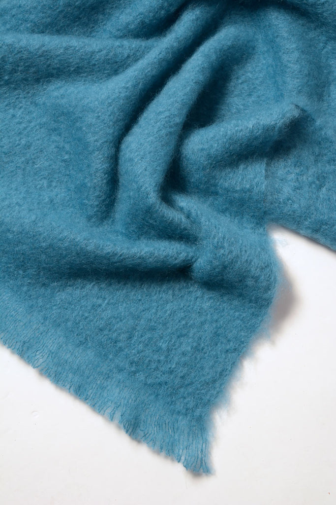 Windermere Lake Blue Mohair Throw Blanket