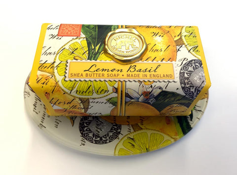 Lemon Basil Soap & Soap Dish Gift Set