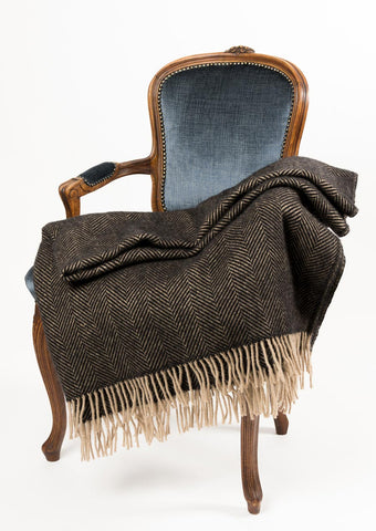 Image of Warwick Shetland Wool Throw Blanket - Lerwick Vintage