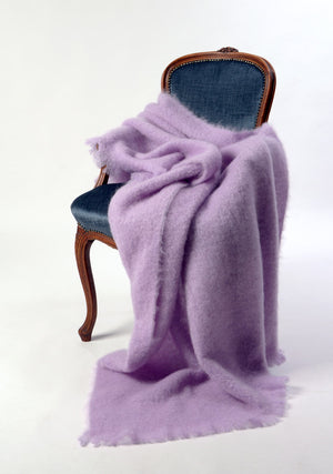 Mohair Chair Throw NZ - Windermere Lilac Pink