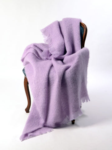 Mohair Chair Throw Australia - Windermere Lilac Pink