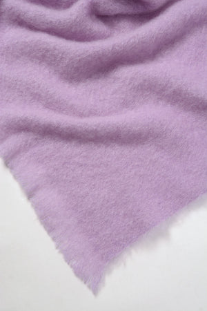 Lilac Pink Mohair Chair Throw
