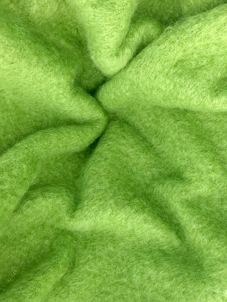 Windermere Lime Green Mohair Throw Blanket