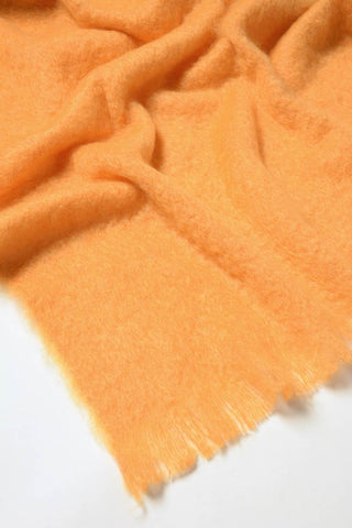 Windermere Mango Orange Mohair Throw Blanket