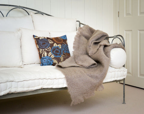 Image of  Mohair Throw NZ - Windermere Manuka Taupe