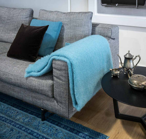 Windermere Sea Spray Mohair Throw Blanket