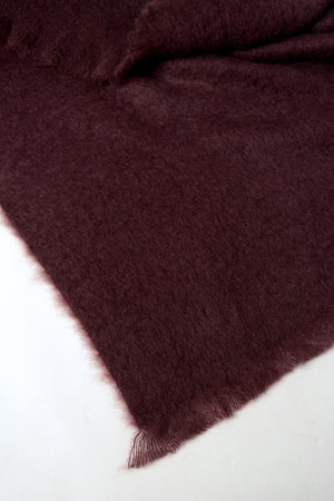 Mulberry Wine Mohair Throw Blanket