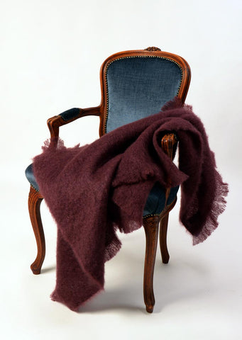 Mohair Throw Blanket Australia - Windermere Mulberry Wine