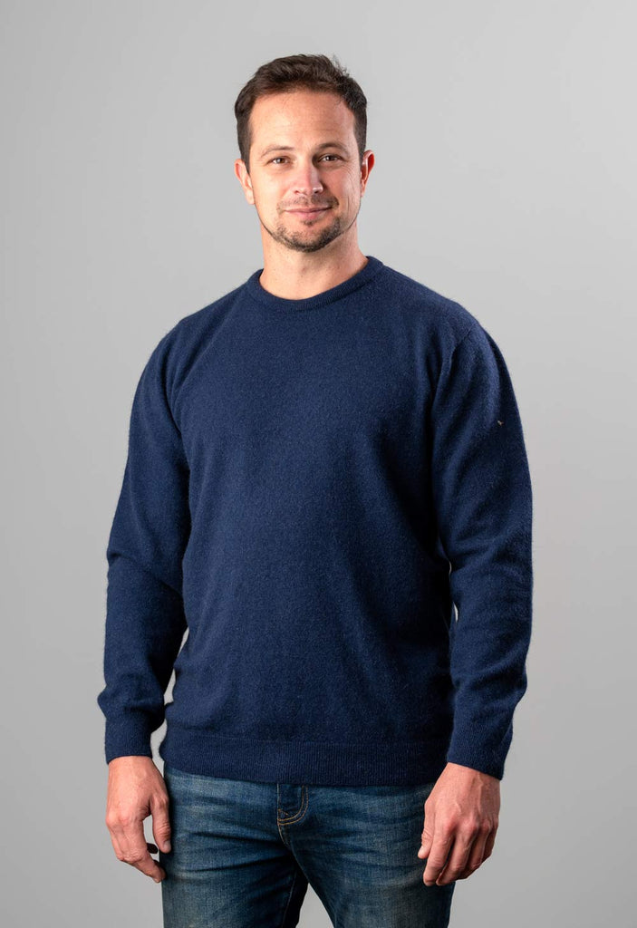 Twilight men's possum merino wool crew neck sweater