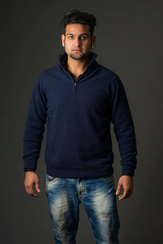 Image of Men's possum merino wool sweater Twilight - NB336