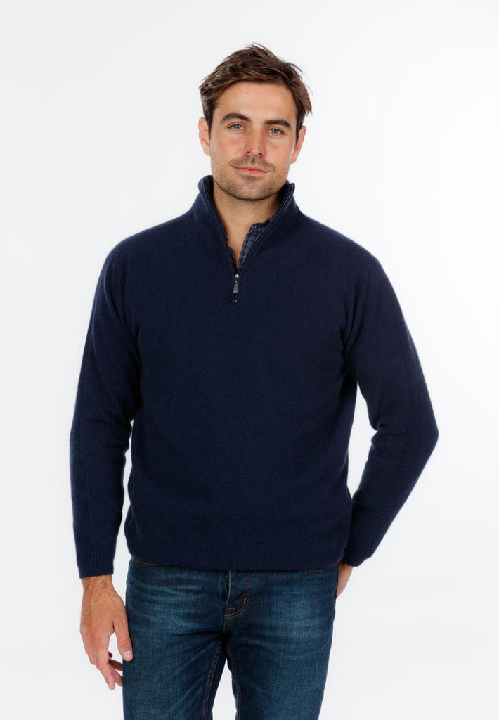 Men's possum merino wool sweater Twilight - NB336