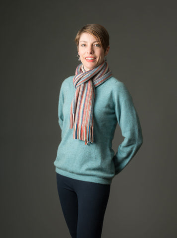 Image of Topaz Women's Vee-Neck Merino Wool Sweater - NB396