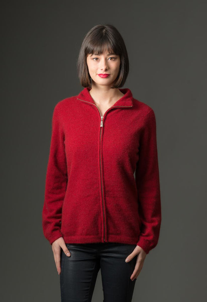 Berry Women's Plain Zip Jacket - NB485