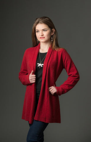 Native World Berry Women's Long Merino Wrap Jacket - NB498