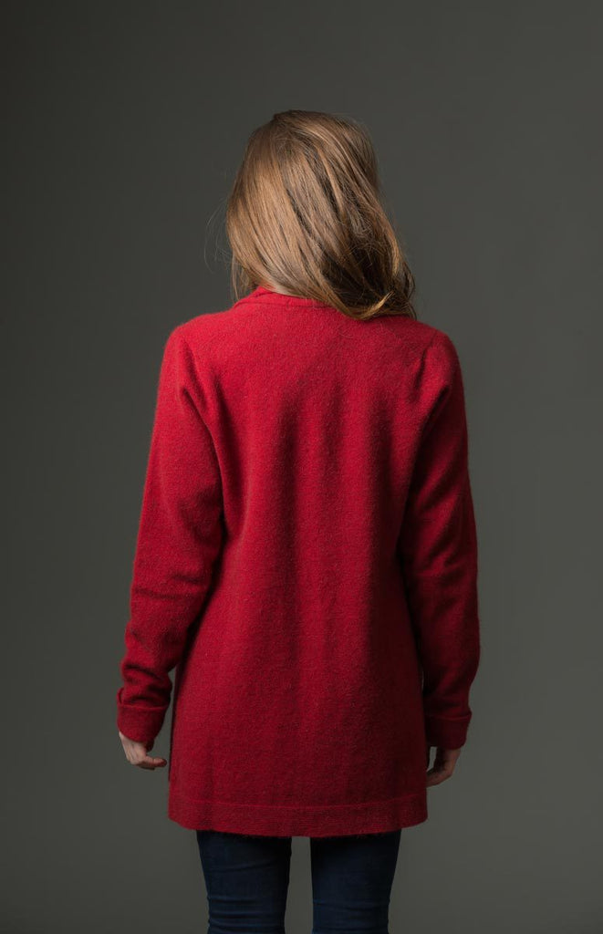 Berry Women's Long Merino Wrap Jacket - NB498
