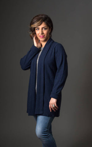 Native World Twilight Women's Long Merino Wrap Jacket - NB498