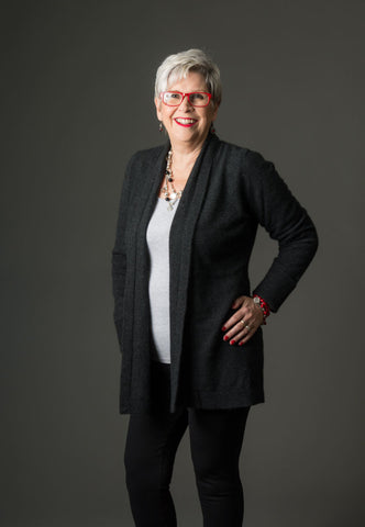 Image of Native World Charcoal Women's Long Merino Wrap Jacket - NB498