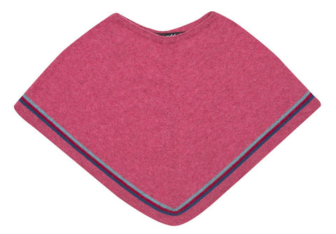 Possum & Merino Wool Raspberry Pink Kids Poncho - NB711