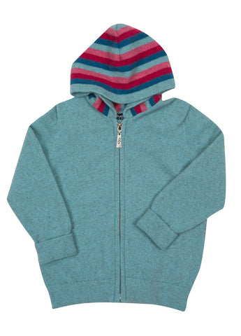 Topaz Kids Hoodie Jacket Possum & Merino Wool - NB712