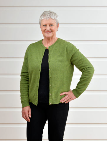 Image of Meadow Women's Merino Cropped Cardigan - NB737