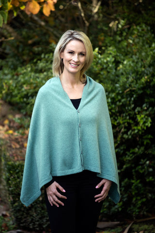 Image of Topaz Women's Any-Way Possum Merino Wrap - NE557