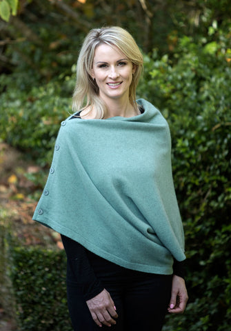 Topaz Women's Six-Way Possum Merino Wrap - NE557