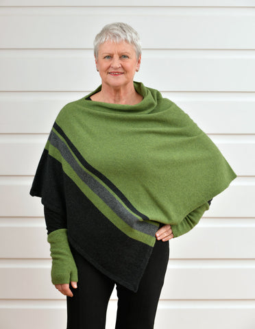 Meadow Women's 3 Tone Wrap Possum Merino - NE732
